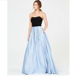 Blondie Nites 5 Black Blue Strapless Gown NWT BX41